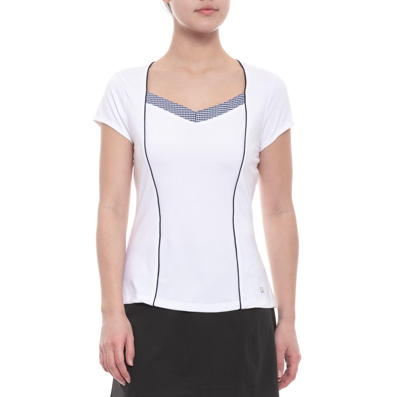 661def8388 Fila Tennis Gingham Tennis Shirt - UPF 30+, Short Sleeve (For Women) ...