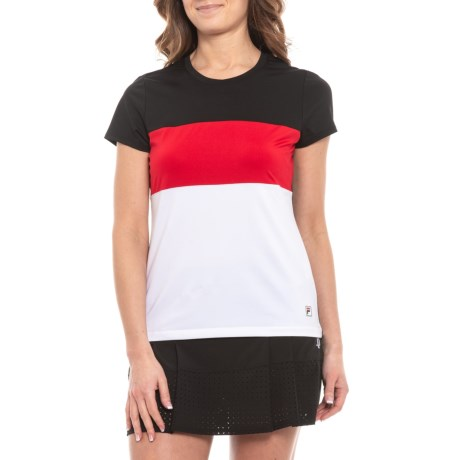 27d7f0aa Fila Tennis Heritage Tennis Shirt - UPF 30+, Cap Sleeve (For Women)