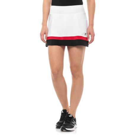 18f5c227d45 Fila Tennis Heritage Tennis Skort (For Women) in White/Black/Crimson