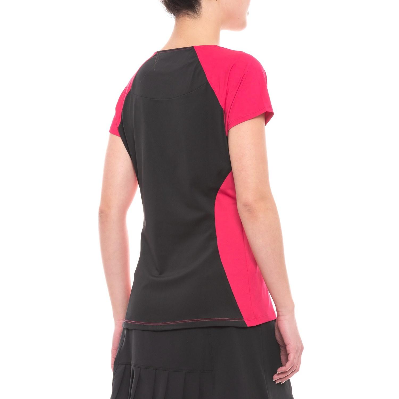 22323515 Fila Tennis Sleek Streak Tennis Shirt (For Women) - Save 81%