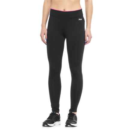 Fila Tipped Waist Leggings (For Women) in Blk Knockoutpnk - Closeouts