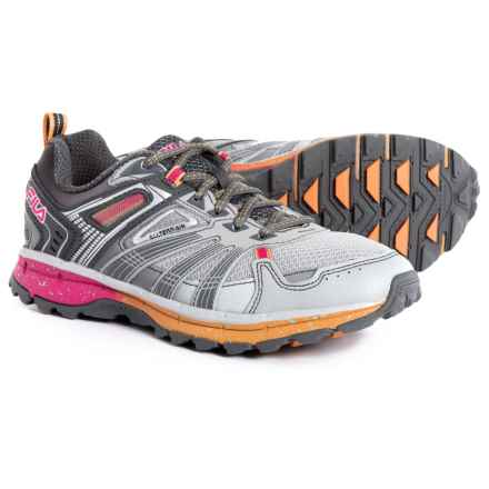 Fila TKO TR 4.0 Trail Running Shoes (For Women) in Hirise/Pewter/Orange Pop - Closeouts