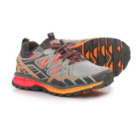 Fila TKO TR 5.0 Trail Running Shoes (For Girls) in Highrise/Pewter/Orange Pop - Closeouts