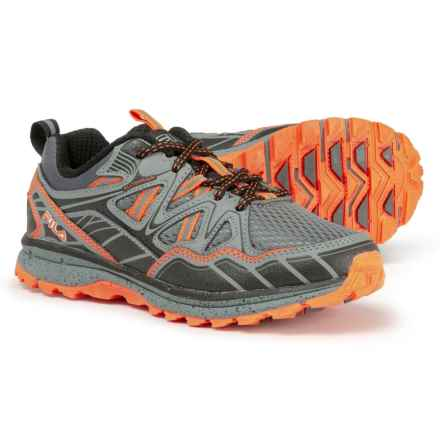 Fila TKO TR 5.0 Trail Running Shoes (For Little and Big Boys) in Castlerock/Monument/Vibrant Orange