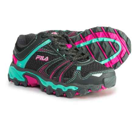 Fila TKO TR Trail Running Shoes (For Girls) in Dark Shadow/Cockatoo/Pink Glo - Closeouts