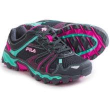Fila TKO TR Trail Running Shoes (For Little and Big Kids) in Dark Shadow/Cockatoo/Pink Glo - Closeouts