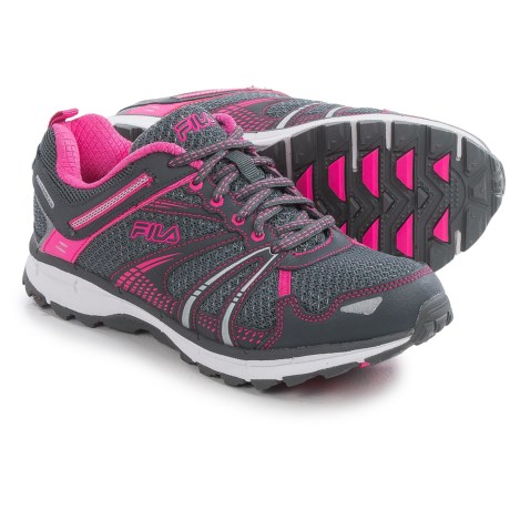 Fila TKO Trail Running Shoes (For Women) in Castlerock/Sugarplum/White