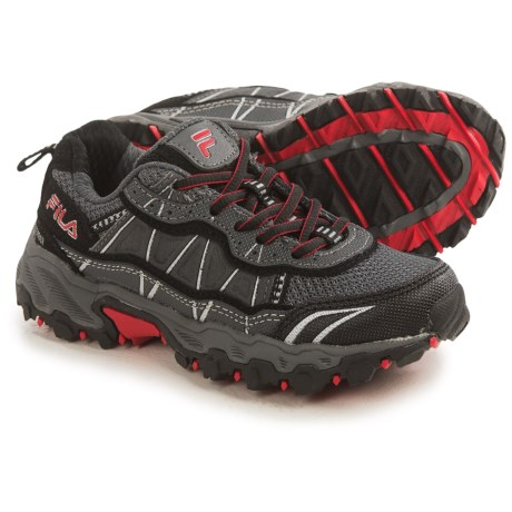 Fila Tractile 2 Trail Running Shoes (For Little and Big Kids) in Castlerock/Black/Fila Red
