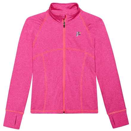 Fila Training Jacket (For Girls) in Pink Glow - Closeouts