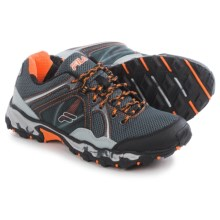 Fila Vitality 8 Trail Running Shoes (For Men) in Pewter/Black/Red Orange - Closeouts