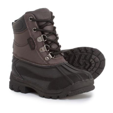 Fila Weathertech Extreme Boots (For Boys) in Espresso/Black/Dark Silver