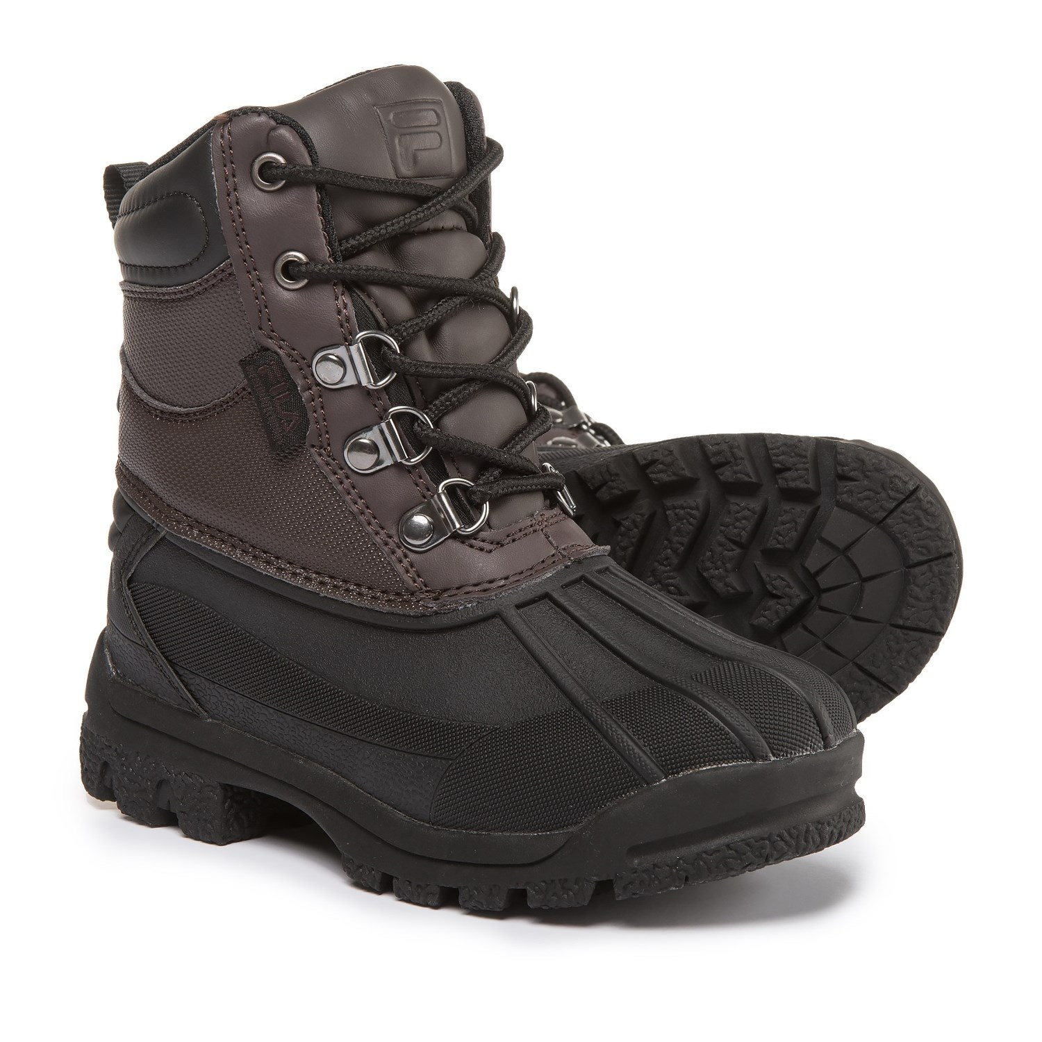 Fila Weathertech Extreme Boots (For Boys) in Espresso/Black