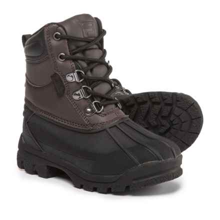 Fila Weathertech Extreme Boots (For Boys) in Espresso/Black - Closeouts