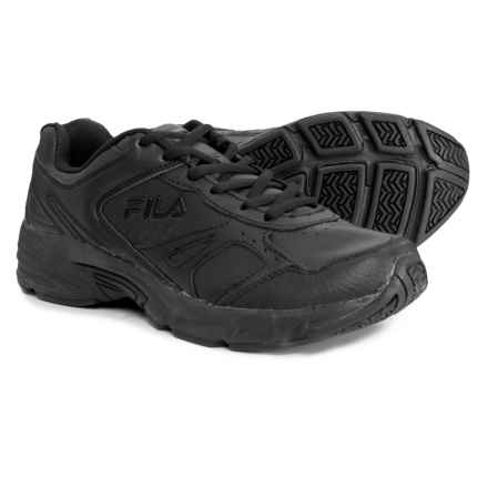 Fila Workplace Shoes (For Men) in Black/Black/Black - Closeouts