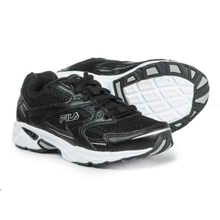 Fila Xtent 3 Running Shoes (For Boys) in Black/Black/Metallic Silver - Closeouts