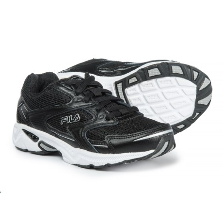 Fila Xtent 3 Running Shoes (For Boys) in Black/Black/Metallic Silver