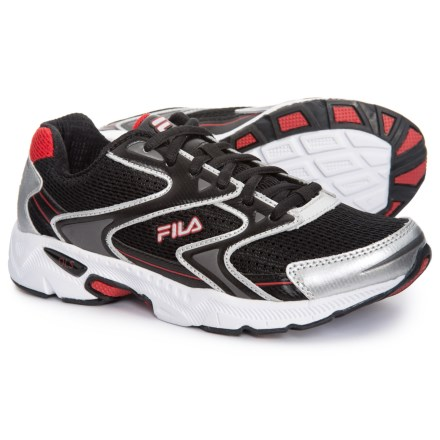Fila Xtent 3 Running Shoes (For Little and Big Boys) in Black Metallic 5d428b33e0