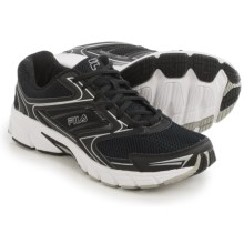 Fila Xtent 4 Running Shoes (For Men) in Black/Black/Metallic Silver - Closeouts