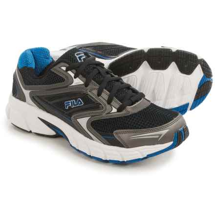 Fila Xtent 4 Running Shoes (For Men) in Black/Dark Silver/Prince Blue - Closeouts