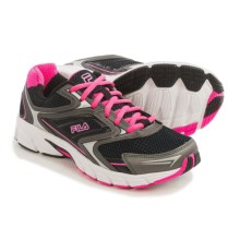 Fila Xtent 4 Running Shoes (For Women) in Black/Dark Silver/Knockout Pink - Closeouts