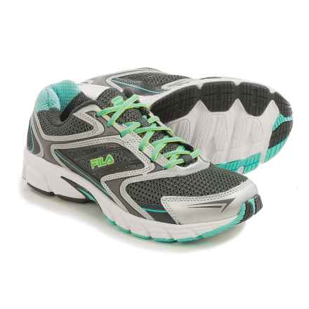 Fila Xtent 4 Running Shoes (For Women) in Dark Silver/Dark Shadow/Aruba Blue - Closeouts