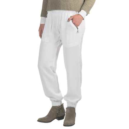 Fillmore America Banded Joggers - TENCEL®-Rayon (For Women) in White - Closeouts