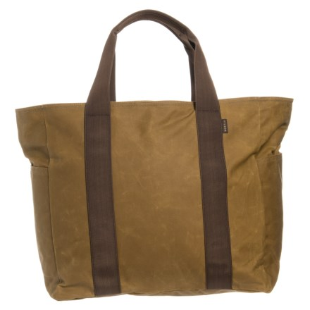 480d1134ed Filson 41L Tin Cloth Grab N Go Tote Bag in Dark Tan Brown