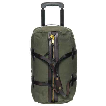 Filson 43L Rugged Twill Rolling Duffel Bag - Small in Otter Green