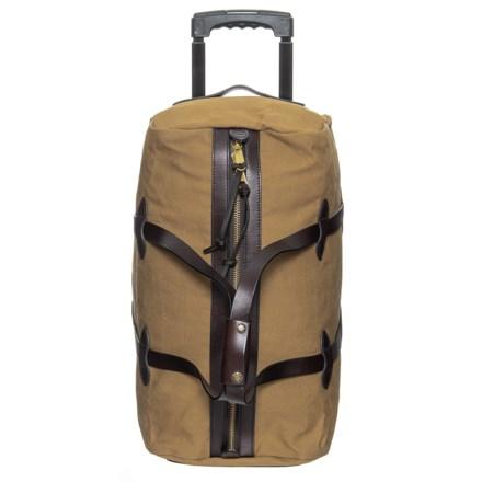 c68dc68507c Filson 43L Rugged Twill Rolling Duffel Bag - Small in Tan