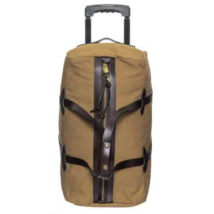 Filson 43L Rugged Twill Rolling Duffel Bag - Small in Tan