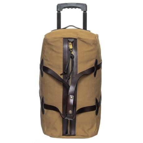 Filson 43l Rugged Twill Rolling Duffel Bag Small In Tan