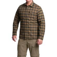 Filson Alaskan Guide Plaid Shirt Jacket - Insulated (For Men) in Otter Green/Black Plaid - Closeouts