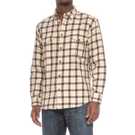 Filson Alaskan Guide Shirt - Long Sleeve (For Men) in Cream/Deep Brown - Closeouts