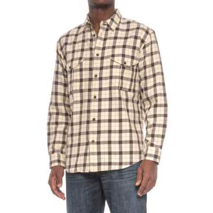 Filson Alaskan Guide Shirt - Long Sleeve (For Men) in Cream/Deep Brown - Closeouts