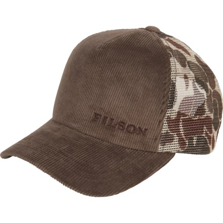 9d79487d2183a Filson Alcan Cord Mesh Trucker Hat (For Men) in Buck Camo