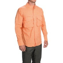 Filson Angler Shirt - Long Sleeve (For Men) in Orange Plaid - Closeouts