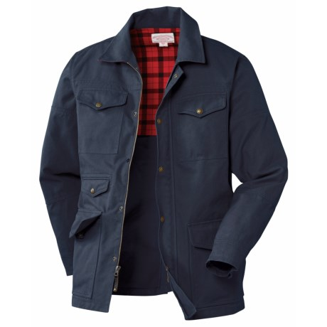 Filson Antique Tin Cloth Barn Coat - Cotton Canvas (For Men) in Navy