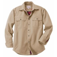 Filson Antique Tin Cloth Lined Shirt - Long Sleeve (For Tall Men) in Desert Tan - Closeouts