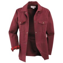 Filson Antique Tin Cloth Ranch Jacket - Cotton Canvas (For Women) in Burgundy - Closeouts