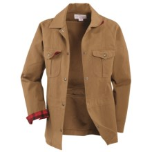 Filson Antique Tin Cloth Ranch Jacket - Cotton Canvas (For Women) in Dark Tan - Closeouts