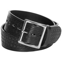 Filson Basket-Weave Belt - Leather (For Men) in Black - Closeouts