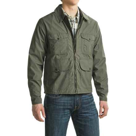 Filson Bell Bomber Jacket - Waxed Cotton (For Men) in Dark Otter Green - Closeouts