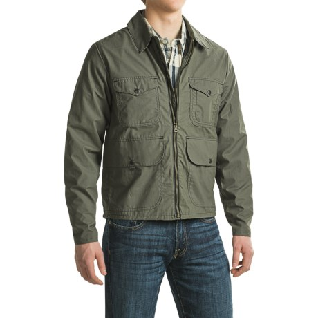 Filson Bell Bomber Jacket Waxed Cotton For Men