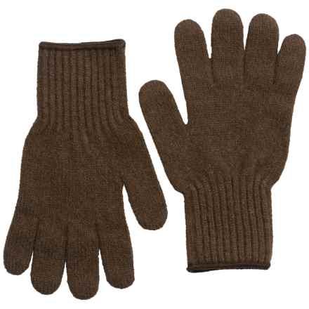 Filson Bison Down Knit Gloves (For Men) in Brown - Closeouts