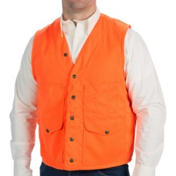 Filson Blaze Orange Cruiser Vest (For Men) in Blaze Orange