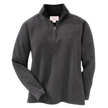 Filson Bridgeport Sweater - Zip Neck (For Women) in Charcoal - Closeouts