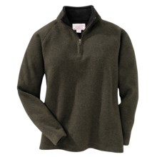 Filson Bridgeport Sweater - Zip Neck (For Women) in Forest Green - Closeouts