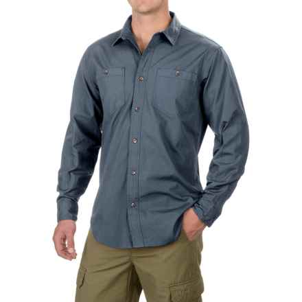 Filson Buckhorn Field Shirt - Cotton, Long Sleeve (For Men and Big Men) in Petrol Blue - Closeouts