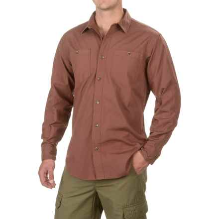 Filson Buckhorn Field Shirt - Cotton, Long Sleeve (For Men and Big Men) in Red Clay - Closeouts
