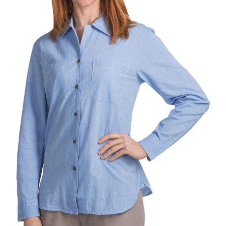 Filson Chambray Shirt - Spread Collar, Long Sleeve (For Women) in Blue